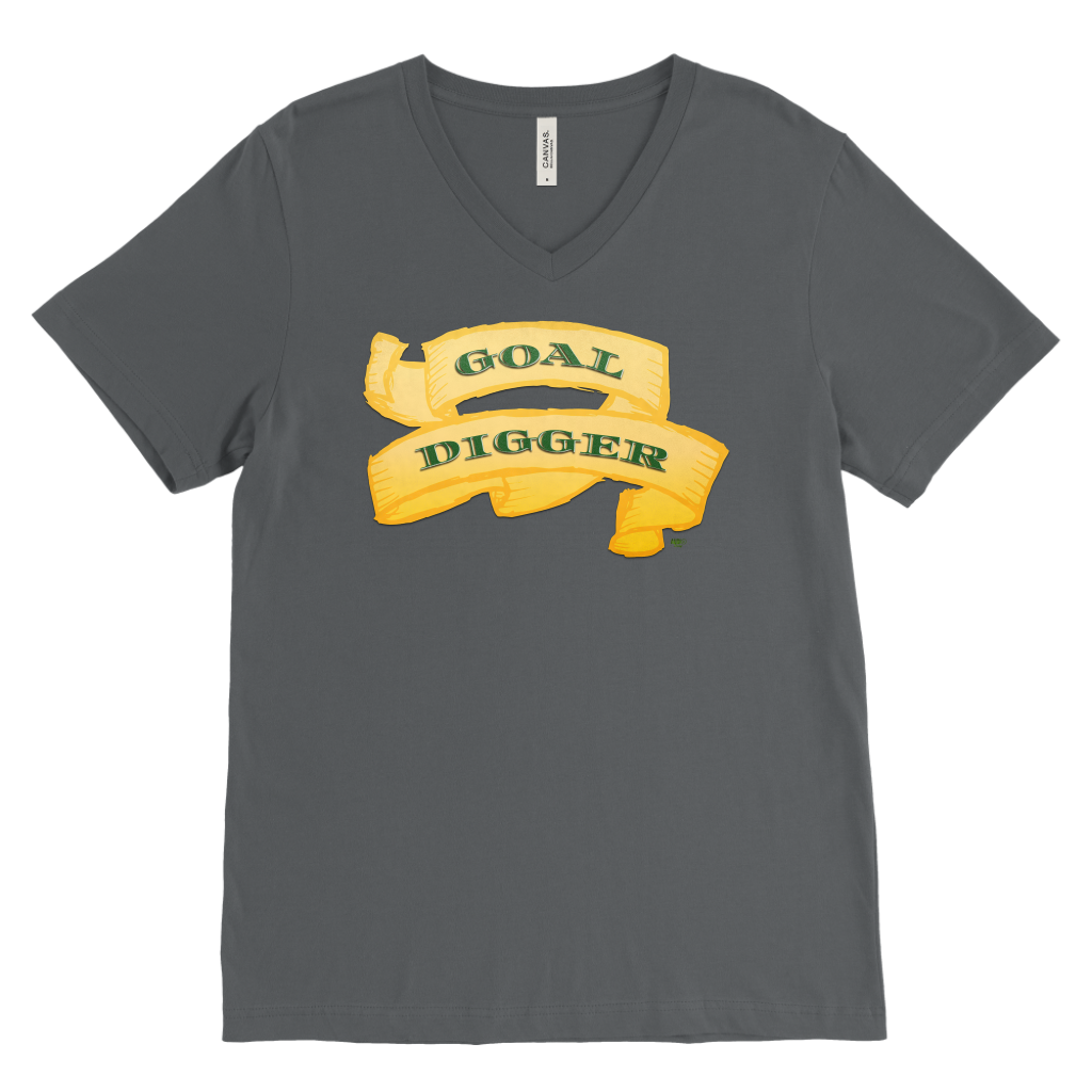 Goal Digger Mens V-Neck Tee - Audio Swag