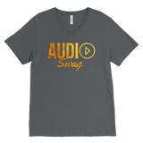 Audio Swag Gold Logo Mens V-Neck Tee - Audio Swag