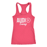 Audio Swag Light Logo Ladies Racerback Tank Top - Audio Swag