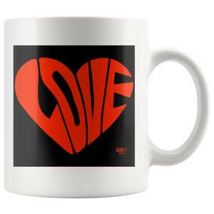 Love Heart Graphic Mug - Audio Swag