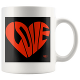 Love Heart Graphic Mug