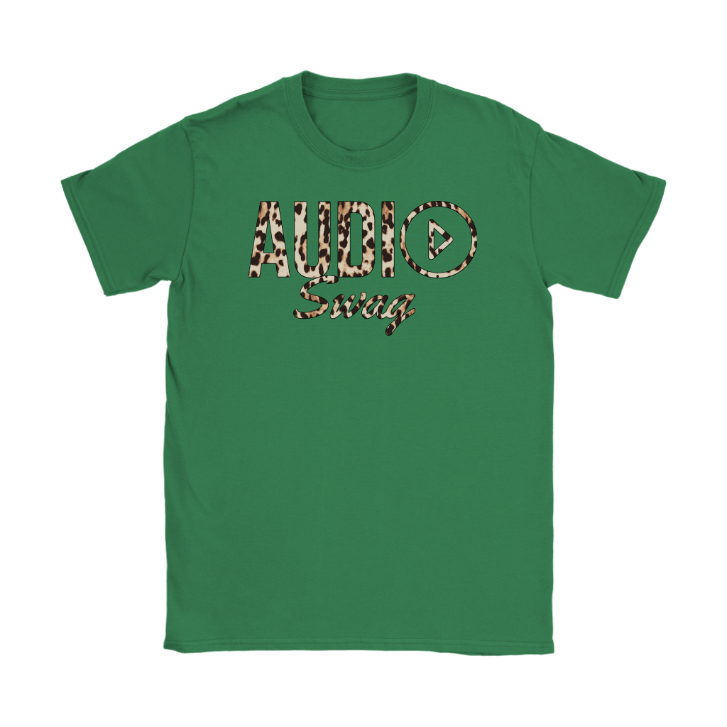 Audio Swag Leopard Logo Ladies T-shirt - Audio Swag