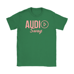 Audio Swag Peach Logo Ladies T-shirt - Audio Swag