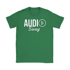Audio Swag White Logo Ladies T-shirt - Audio Swag