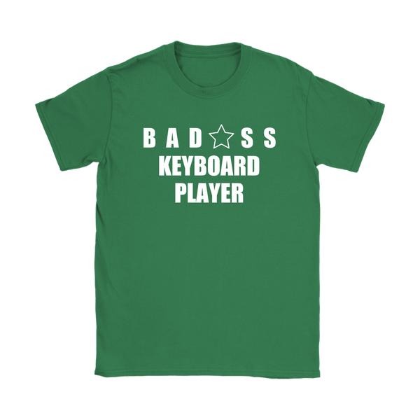 Bad@ss Keyboard Player Ladies Tee - Audio Swag