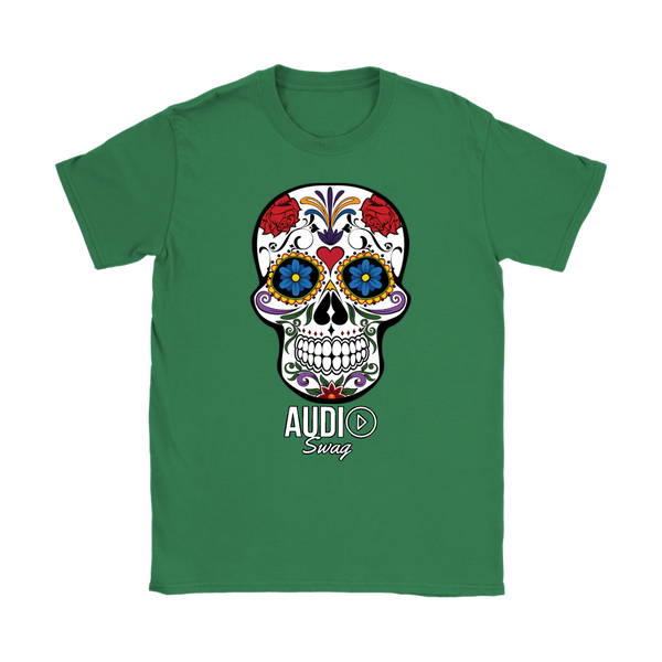 Sugar Skull Audio Swag Ladies T-shirt