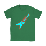 Neon Electric Guitar Ladies Tee - Audio Swag