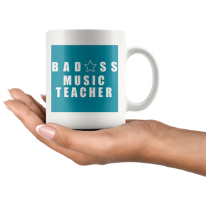 Bad@ss Music Teacher Mug - Audio Swag