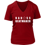 Bad@ss Beatmaker Ladies V-Neck T-shirt - Audio Swag