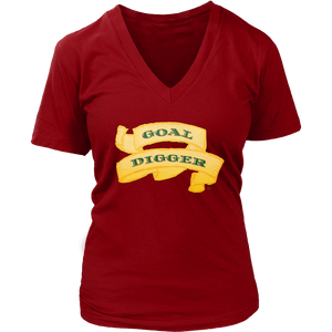 Goal Digger Ladies V-Neck Tee - Audio Swag