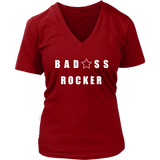 Bad@ss Rocker Ladies V-Neck Tee - Audio Swag