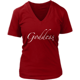 Goddess Ladies V-neck T-shirt - Audio Swag