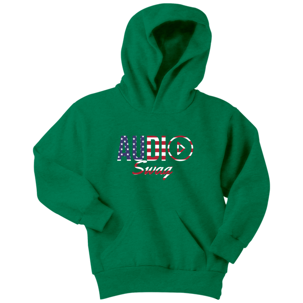 Audio Swag USA Logo Youth Hoodie - Audio Swag