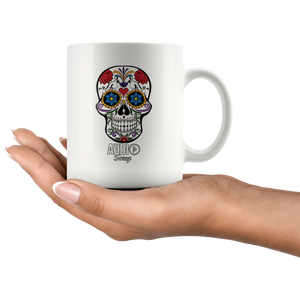 Sugar Skull Audio Swag Mug - Audio Swag