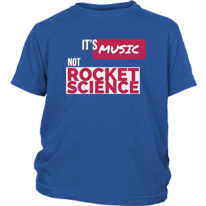 Its Music Not Rocket Science Youth T-shirt - Audio Swag