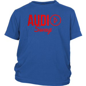 Audio Swag Red Logo Youth Tee - Audio Swag