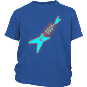 Neon Electric Guitar Ladies Youth Tee - Audio Swag