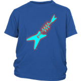Neon Electric Guitar Ladies Youth T-shirt - Audio Swag