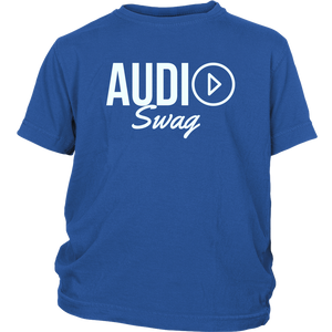 Audio Swag Light Logo Youth Tee - Audio Swag