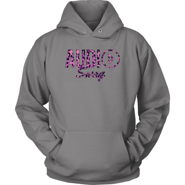 Audio Swag Pink Cheetah Logo Hoodie - Audio Swag