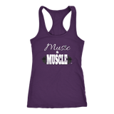 Music & Muscle Ladies Racerback Tank Top