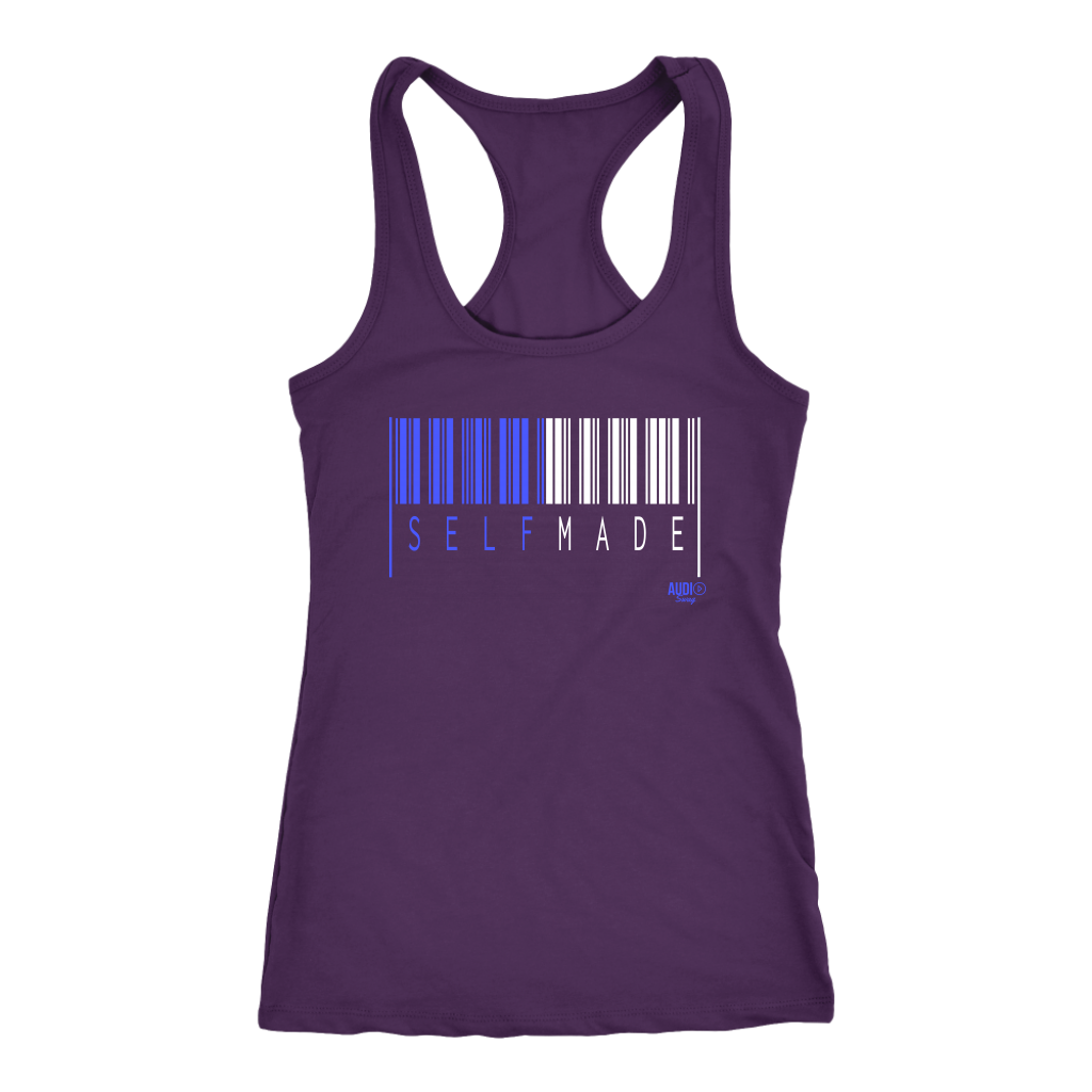 Self Made Ladies Racerback Tank Top - Audio Swag
