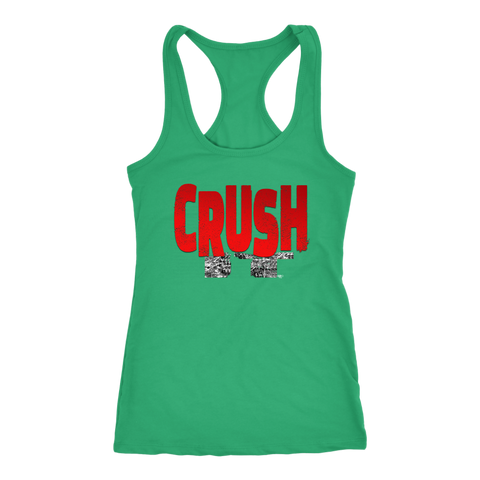 Crush It Motivational Ladies Racerback Tank Top - Audio Swag