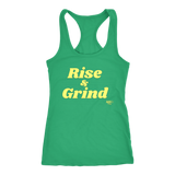 Rise and Grind Ladies Racerback Tank Top