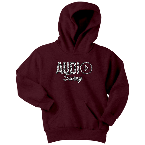 Audio Swag White Cheetah Logo Youth Hoodie - Audio Swag