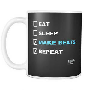 Eat Sleep Make Beats Repeat Mug - Audio Swag