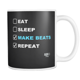 Eat Sleep Make Beats Repeat Mug