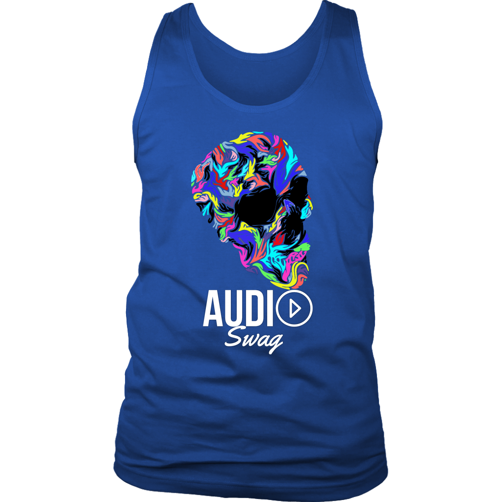 Bright Skull Mens Tank Top - Audio Swag