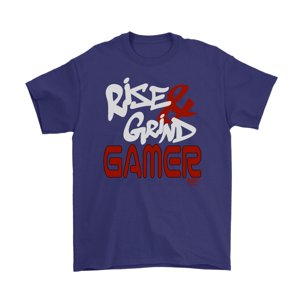 Rise & Grind Gamer Mens T-shirt - Audio Swag