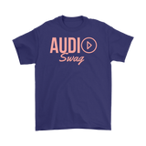 Audio Swag Peach Logo Mens T-shirt