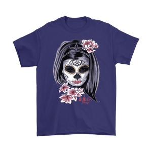 Day Of The Dead Woman Mens T-shirt - Audio Swag