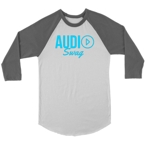 Audio Swag Blue Logo Raglan - Audio Swag