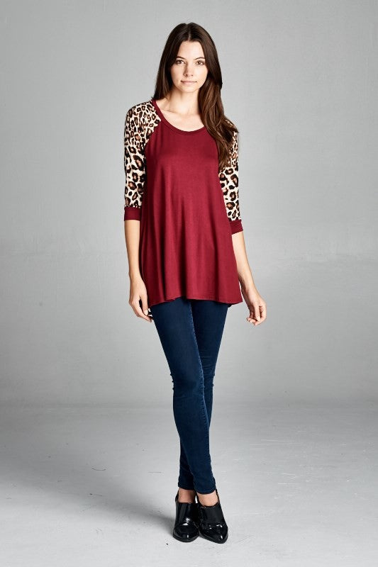 SALE ~ Animal Print Raglan Sleeve