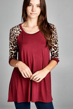 Load image into Gallery viewer, SALE ~ Animal Print Raglan Sleeve