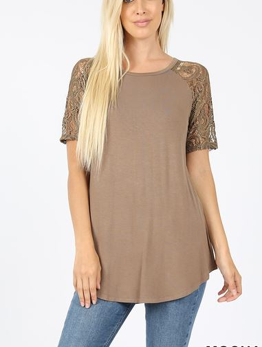 Lace Sleeve Spring Basic