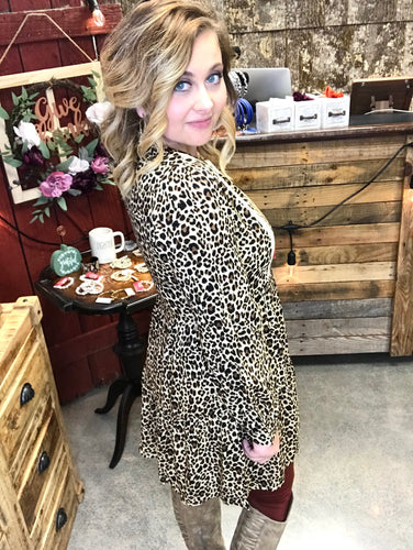 The Cheetah Dress With Lace Trim