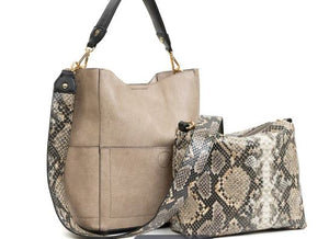 Animal Print Guitar Strap Bucket Bag