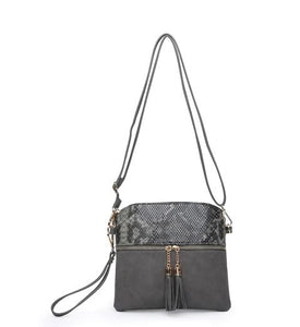 Tassel Zip Crossbody