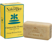 Load image into Gallery viewer, Naked Bee Orange Blossom Honey Triple Milled Soap Bar