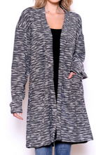 Load image into Gallery viewer, THE KNIT LONG BODY CARDI G W/POCKETS