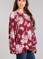 SALE ~ The Floral Wine Knit Tunic