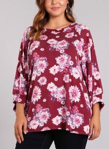 The Floral Wine Knit Tunic