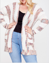 Load image into Gallery viewer, The Knitted Cardigan with Stripes