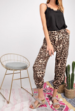 Load image into Gallery viewer, Animal Print Rayon Crepe Joggers