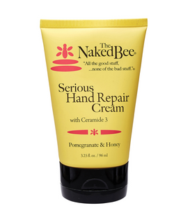 Naked Bee Pomegranate & Honey Serious Hand Repair Cream 3.25 oz