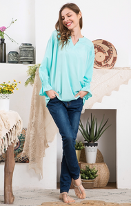 Mint-to-Be Mine Spring Top